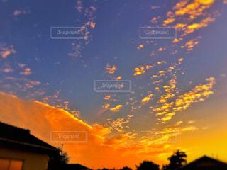 風景,空,秋,雲,夕焼け,夕暮れ,鮮やか,色,秋空,フォトジェニック