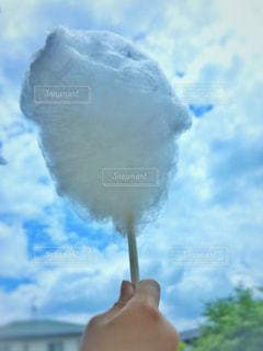 空と綿菓子の写真・画像素材[2279770]
