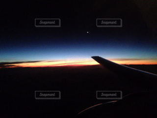 空,夕日,綺麗,飛行機,外国,グアム