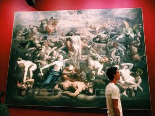 男性,夏,アート,男,人,旅行,絵画,フランス,パリ,海外旅行,外国人,休暇,オルセー美術館,パートナー