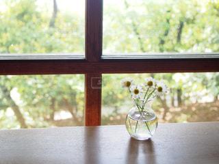 窓際に可憐な小花の写真・画像素材[1010487]