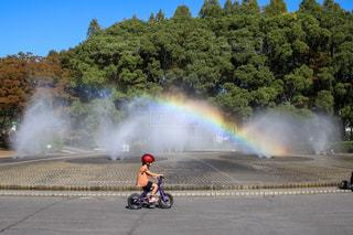公園の虹の写真・画像素材[2606280]