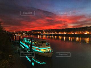 リヨンの夕焼けの写真・画像素材[975252]