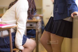 休み時間の女子高生の写真・画像素材[1019807]