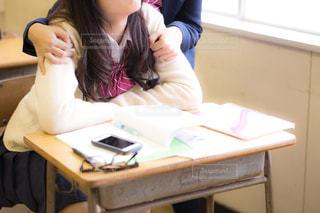 休み時間の女子高生の写真・画像素材[1019808]