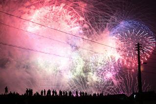 花火大会と観客の写真・画像素材[3693679]