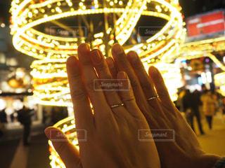 夜,カップル,大阪,ペア,指輪,イルミネーション,旅行,夫婦,リング,休日,デート,お出かけ