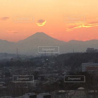 夕暮れと富士山と。の写真・画像素材[982449]
