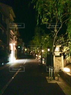 夜,屋外,散歩,道,温泉街,外湯巡り