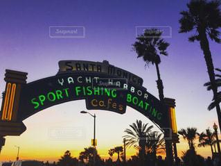 サンタモニカの夕日の写真・画像素材[1003961]