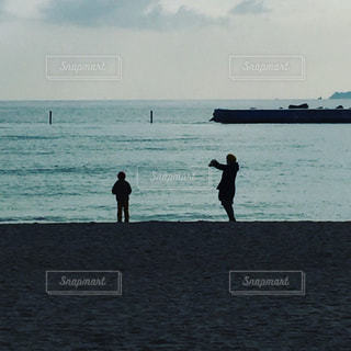 海,親子,砂浜,海辺,熱海