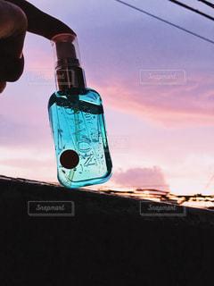 夕焼けとレールデュサボンの写真・画像素材[1163130]