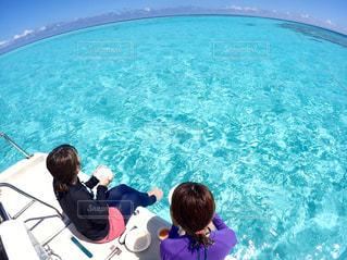 自然,アウトドア,海,空,屋外,きれい,青空,水面,沖縄,景色,ブルー,宮古島,休日,親友,八重干瀬