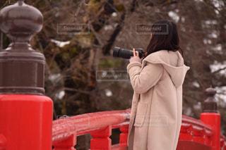 冬,カメラ,カメラ女子,女の子,休日,一眼レフ