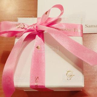 ピンク,プレゼント,リボン,ホワイトデー,サマンサ