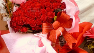 赤,プレゼント,リボン,りぼん,100本の薔薇