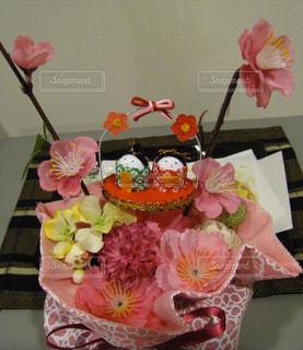 ピンク,赤,お花,リボン,お雛様