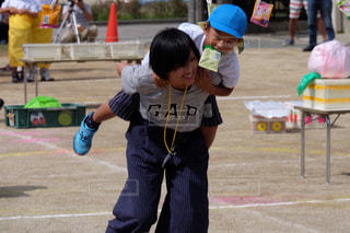 屋外,親子,こども,運動会,障害物競走