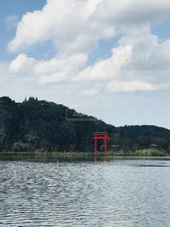 赤い鳥居の写真・画像素材[1030160]