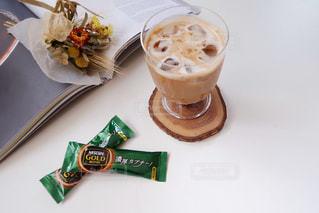 ネスカフェスティック『贅沢カプチーノ』でおうちcafeの写真・画像素材[1290489]