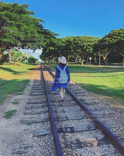 線路,アメリカ,観光,人物,道,旅,America,ハワイ,Hawaii,コオリナ,コオリナステーション