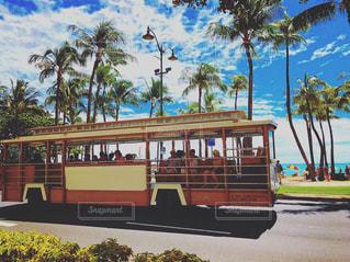 夏,晴れ,青空,アメリカ,観光,旅,バス,America,ハワイ,Hawaii,ワイキキ,ホノルル