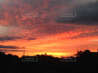 空,夕日,夕陽,オレンジ色