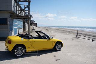 アウトドア,海,黄色,休日,ドライブ,オープンカー,お出かけ