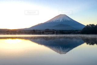 富士山からの初日の出の写真・画像素材[1237779]