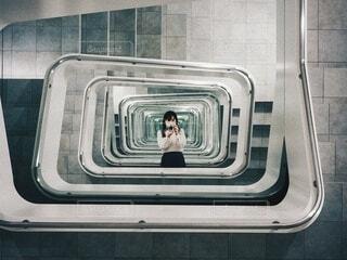 不思議な階段の写真・画像素材[3872538]