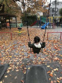 公園,ブランコ,子供,休日