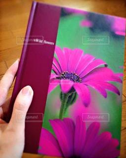 日記帳を持つ私の写真・画像素材[1019871]