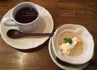 珈琲とデザートの写真・画像素材[1051227]