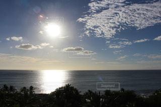 海,空,太陽,雲,アメリカ,ハワイ