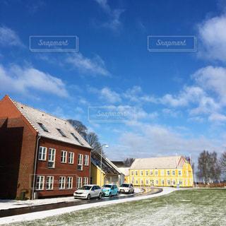 デンマークの青空の写真・画像素材[1130177]