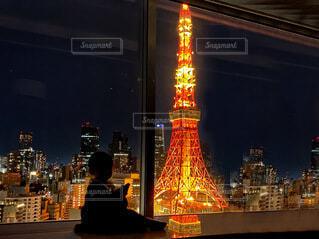 人生初の東京タワー夜景の写真・画像素材[4081421]