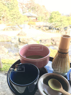 自然,庭,屋外,晴れ,抹茶,和,お寺,ほっこり