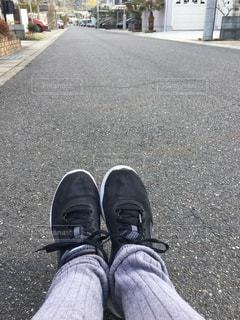 走る前のストレッチの写真・画像素材[1004240]