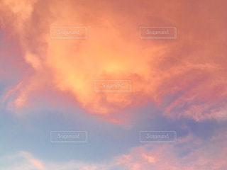 空,夕日,ピンク