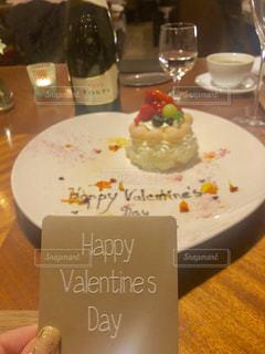 食べ物,ケーキ,テーブル,皿,レストラン,バレンタイン,プレート,バレンタインデー,カード