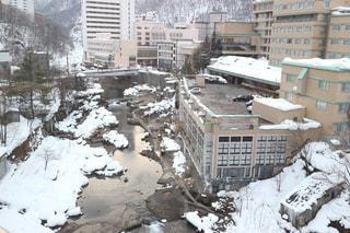 温泉,北海道,札幌,温泉街,宿,定山渓,宿からの風景,宿から見える景色,章月グランドホテル
