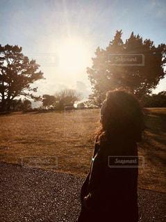 自然,アウトドア,屋外,太陽,夕焼け,夕暮れ,景色,光,夕陽,休日,快晴,和歌山,お出かけ,日中,潮岬