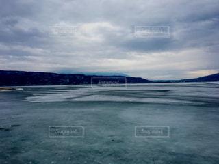 自然,風景,空,冬,雪,屋外,湖,日本,長野,長野県,諏訪湖,諏訪,諏訪市,諏訪湖の御神渡り,御神渡り