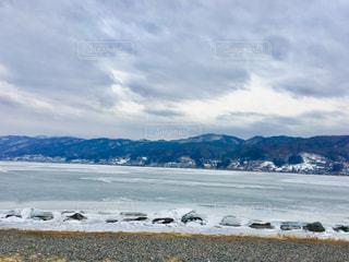 自然,風景,空,冬,屋外,日本,長野,長野県,諏訪湖,諏訪,諏訪市,諏訪湖の御神渡り,御神渡り