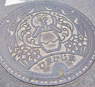 タコのマンホールの写真・画像素材[1017807]