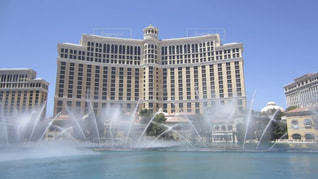 空,建物,青空,水,アメリカ,観光,噴水,リゾート,ラスベガス,噴水ショー