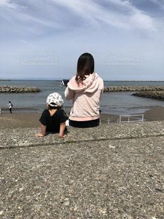 自然,空,親子,砂浜,海岸,休日