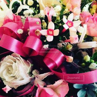 花,ピンク,赤,白,花束