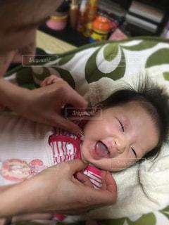 笑顔,赤ちゃん,ママ,こちょこちょ