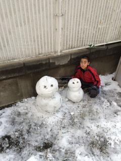 雪,庭,雪だるま,ホワイト
